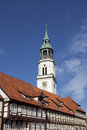 Celle, St. Marys Church And Half-timbered Houses Stock Photos - 26552113
