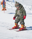 Child Learning Skiing Stock Photos - 26557663