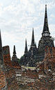 Ruins Of Ayutthaya In Thailand Royalty Free Stock Images - 26566409