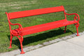 Red Bench Stock Photography - 26574182