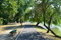 Walking Down The Lake Park On A Sunny Day Stock Images - 26578854