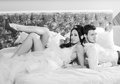 Wedding Couple On A Bed Stock Images - 26580004