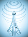 3d Communication Antenna Tower Stock Images - 26580834