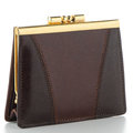 Brown Leather Purse Royalty Free Stock Images - 26582769