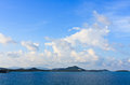 Blue Sky And White Clouds Over  Ialand,Thailand Royalty Free Stock Photo - 26587025