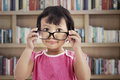 Cute Girl Wearing Glasses Stock Photography - 26593972