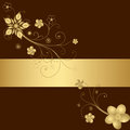 Golden Floral Frame Stock Photos - 26605763