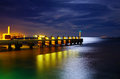 Pier At Night Stock Photography - 26606602