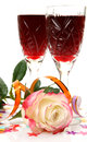 Wine And Rose Royalty Free Stock Image - 26608876