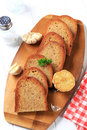 Pan Fried Bread And Garlic Stock Photography - 26609022