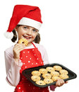 Little Girl Baking Christmas Cookies Royalty Free Stock Photography - 26613357