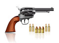 Gun And Bullets Royalty Free Stock Photo - 26614215