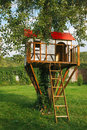 Cute Small Tree House For Kids Stock Photography - 26620012