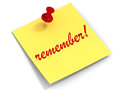 Remember Note Stock Photography - 26630202