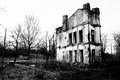 Ruined Old House In Black And White Royalty Free Stock Photos - 26631528