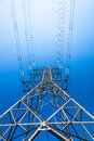 Electricity Tower Steel Blue Upward Stock Photos - 26639133