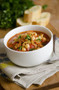 Chorizo And Chickpea Soup Stock Photo - 26647600