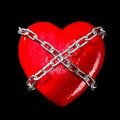 Chained Red Heart Royalty Free Stock Image - 26655036