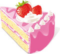 Strawberry Cake Stock Images - 26655124