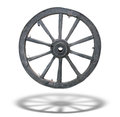 Antique Cart Wheel With Shadow Stock Photography - 26655992
