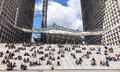 Lunch Time In La Defense Royalty Free Stock Photo - 26656785