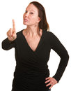 Lady Wagging Her Finger Royalty Free Stock Photo - 26657595