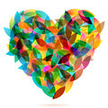 Colorful Heart From Autumn Leaves Illustration Royalty Free Stock Images - 26660209