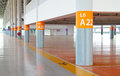 Parking With Pedestrian Strip And Pillar Numbering Royalty Free Stock Photos - 26663328