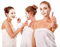 Group Women With  Facial Mask. Royalty Free Stock Image - 26671516