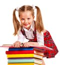 Child With Stack Book. Stock Images - 26671574