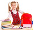 Child With Stack Book. Stock Photos - 26671583