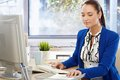 Beautiful Office Girl Busy Working Royalty Free Stock Photo - 26681075