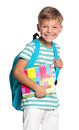 Little Boy With Exercise Books Royalty Free Stock Photography - 26688177
