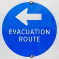 Evacuation Route Sign Royalty Free Stock Photo - 26691945