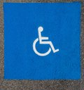 Handicap Parking Spot Symbol Royalty Free Stock Photography - 26691977