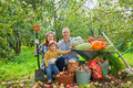 Happy  Family With Vegetables Harvest Royalty Free Stock Image - 26701826