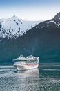 Cruise Ship In Inside Passage Stock Images - 26708124