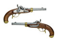 Prussian Antique Percussion Pistol Royalty Free Stock Photo - 26710605