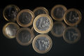 One Euro Coins Stock Photography - 26711902