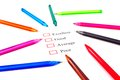Checklist With Pens Royalty Free Stock Photography - 26725327