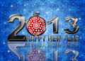 2013 New Year Snowflakes Ornament Illustration Royalty Free Stock Photo - 26729805