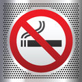 No Smoking Symbol On A Chromium Background Royalty Free Stock Photography - 26743367