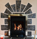 Gas Fireplace And Surround Royalty Free Stock Photos - 26750458