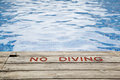 No Diving Sign Royalty Free Stock Images - 26755919