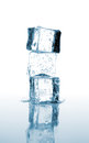 Three Ice Cubes Stacked Stock Images - 26758874