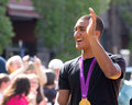 Ashton Eaton Olympian Waving To Homecoming Crowd Royalty Free Stock Images - 26762279