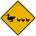 Duck Crossing Sign Royalty Free Stock Photography - 26762377