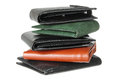 Stack Of Wallets Stock Images - 26777034
