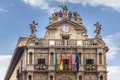 Top Of City Hall In Pamplona, Spain Stock Photos - 26780163