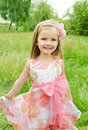 Portrait Of Cute Little Girl In Princess Dress Royalty Free Stock Photography - 26788477